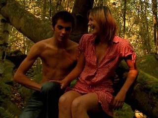 My penis becomes hard every time when I examine legal age teenager porn videos! This time wasn't the exception and that is why I became turned on so much checking up how man seduces his pretty girlfriend to have nice pounding in a forest. Yeah, she's not against of getting her mouth and pussy nailed outdoor.