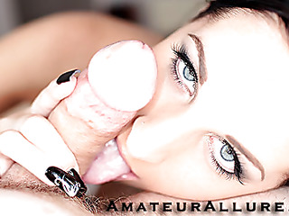 Racquel is a gorgeous 20 year old dark brown, with all natural whoppers and a tiny shaved cookie.  This Sweetheart is a total pecker engulfing freak, that can't appear to be to get sufficiently cum in her mouth. When u watch what this chick does to my dick u will understand. That Sweetheart rode my penis like a pro and then I flipped her over and stretched her snatch good. We had a banging good time and that chick swallowed a sticky load.