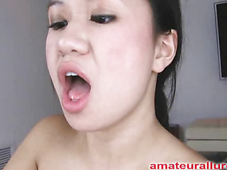 Carmina is an oriental slut out of gag reflex. This Babe takes a penis all the way down her mouth and holds it for a during the time that. Then Carmina gets her shaved cum-hole fucked then the penis goes right back into her mouth. This Babe jerks off Thoma