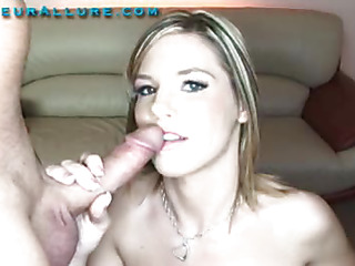 Torrie is a 19 year old little cutie with a gorgeous mouth made for fun. This Babe really enjoys having a 10-Pounder in her mouth and proves it in a big way. That Babe sucks a huge penis and swallows down a huge load and leaves with a smile.