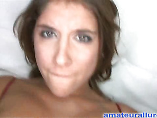 Gorgeous dark brown hotty has a fantastic ass and some serious rod engulfing skills. That Babe gets her shaved impure cleft pounded whilst her large titties are bouncing. Then this babe takes the one and the other hands and jerks off Ray's large weenie