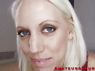 Gorgeous golden-haired Kacey is back and ready to discharge her first HiDef Spermcam update. She sucks my ramrod with precision and after this babe gets it all sloppy, wet and strong this babe lowers her taut twat onto my penis. I fuck that sweet hairless filthy cleft for a while until its time to discharge my load. I dump a huge load of thick creamy cum in her mouth and this babe gulps it down.