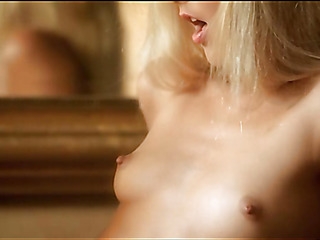 Babe is demonstrating delights and touching fresh wet hole
