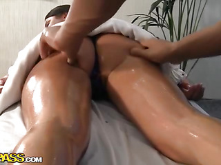 Exotic looking brunette hair followed her best allies advice and signed up for massage in health center. This Babe heard of the hawt muscular doctor who worked there and decided to check herself if this guy really was that awesome. This Babe wasn't frustrated by no means when this honey saw the guy. After a tiny in number minutes of bare massage, temperature in the room started to increase... The One And The Other doctor and his patient wanted to do smth filthy. Lovely brunette hair took guys wang in her hands and started to engulf, meanwhileтАж