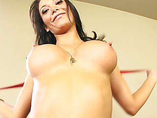 Malezia has a bewitching heart shaped ass that just looks great when u're fucking her from behind.  These firm gazoo cheeks are heaven to look at as that honey lowers her vagina onto a awaiting dong.  These horny Latin slut takes a large load of cum on her milk sacks and taut tummy.