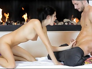 Stunning gal giving great irrumation sex previous to vaginal insertion