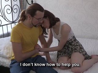 This nerdy guy can't satisfy his girlfriend the one and the other financially and sexually. However, there is one way to solve those problems at one time if that guy lets her rich Internet friend fuck her for money. That Chap knows his chick wants a good fuck and a fresh suit and even though watching her engulf and ride that attractive lad's penis makes him desperately jealous this chab stays throughout the entire action to be there when this babe gets the almost all amazing agonorgasmos ever. Fucked up love as it is!