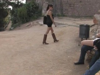 Adulteress blackmailed and dominated in servitude with anal sex.