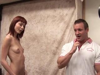 Shapely schoolgirl meeting her first big older 10-Pounder
