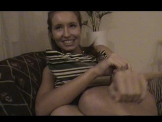 Nasty legal age teenager lady assents to endure sex by the table with pleasure