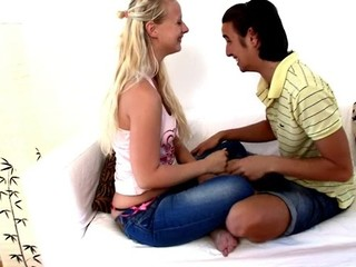 Filthy blond with a good round wazoo enjoys fucking session a lot