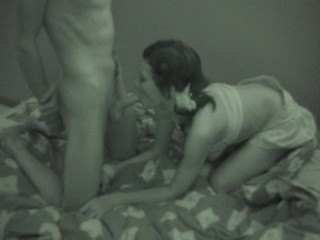 Check out the sexy teen sex scene in a black-and-white quality
