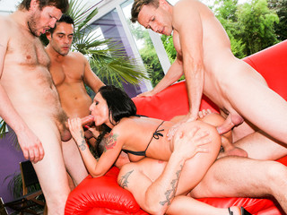 Nasty hawt love tunnel get banged hard in her gazoo by huge rods
