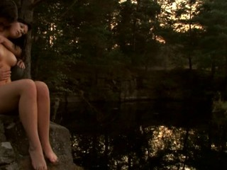 Check out a ardent teen fucking scene outdoors during sunset
