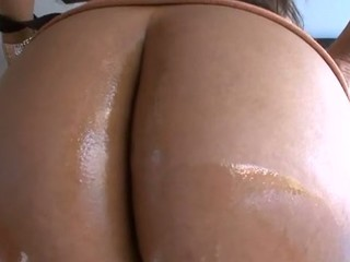 Cute playgirl stands in different poses getting booty banged