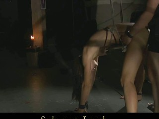 Unlucky day for serf angel Aspen Richardson. Her Slavemaster has a big mood for a painful sadomasochism. Hard spanked, whipped and fingered this babe is complete dominated and used below his kinky control