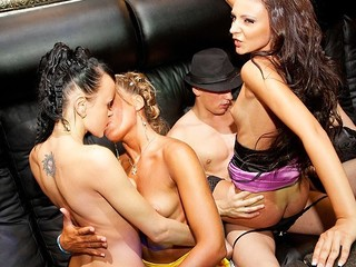 What happens when hawt college sluts hang out in a night club? They fuck the hottest stripper!