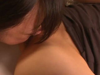 School beauty Aoba Itou gets into a nasty 3some with her boss and his wife and enjoys in pleasing 'em one as well as the other- her with a wonderful cum-hole licking and fingering session and him with a nasty penis engulfing on her knees in this 3some session in the bedroom